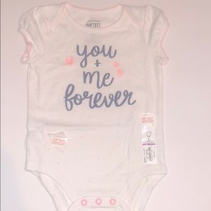 Baby girl you and me forever onesie